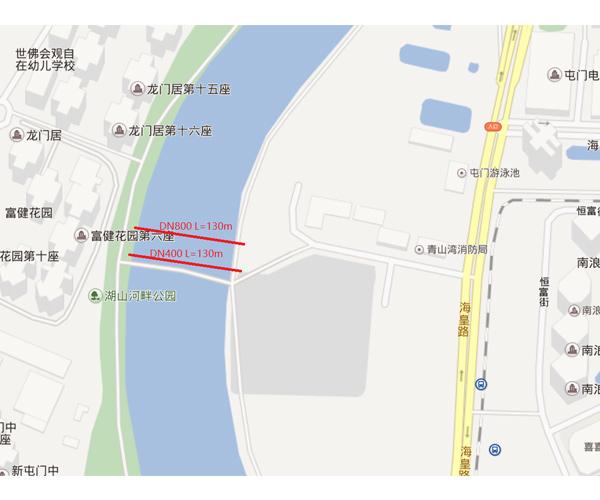 香港屯门DN400,DN800和DN1200工程